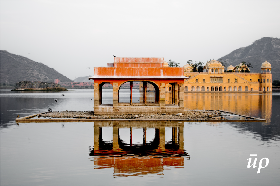 Jal Mahal revival, a project mired in controversy related to ownership and maintenance of heritage structures.