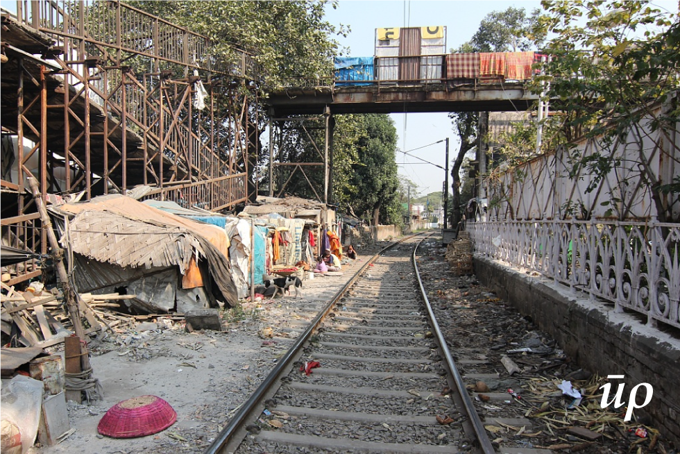 Unsafe slum in Kolkata, India.