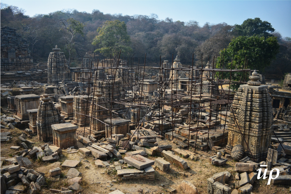 The ruins of more than 100 temples are still scattered in this complex which is to be rebuilt.